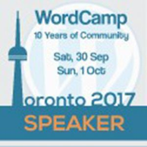 WordCamp Toronto Speaker Badge