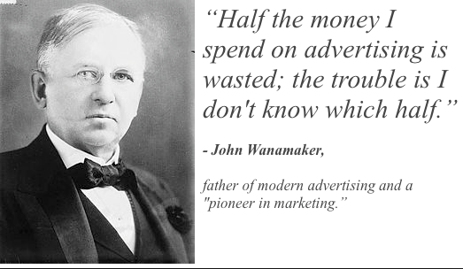 John Wanamaker had to guess advertising results