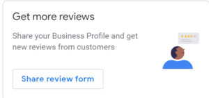 Google My Business review form request